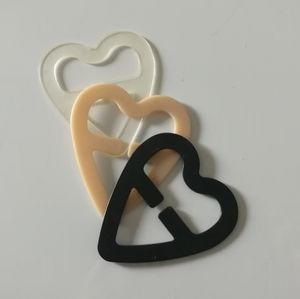 Heart shaped bra strap buckle concealer